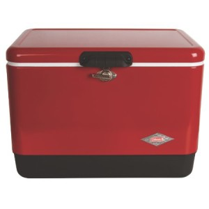 Coleman Steel Belted Red Cooler