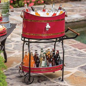 Copper Band Beverage Tub