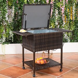 wicker outdoor cooler box - Patio Coolers