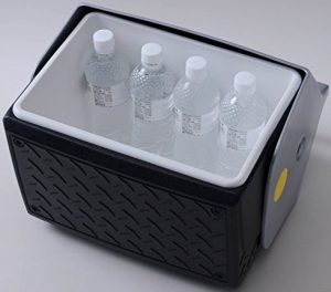 Open Diamond Plate Igloo Small Cooler