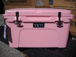 Yeti Pink Cooler Breast Cancer Awareness