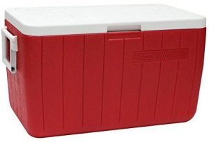 Red Coleman Cooler 48 Qt