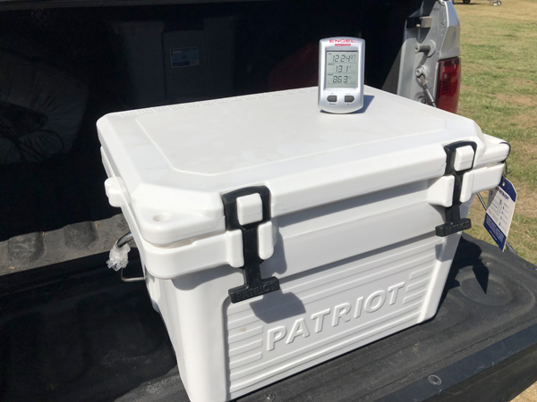 131° Lid Temperature On Patriot Cooler