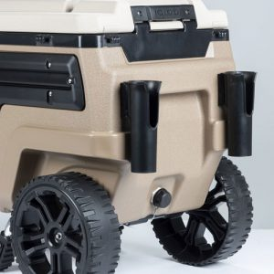 Cooler With Rod Holders