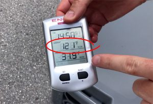 121° During Cooler Test