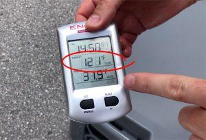 121° During Cooler Test