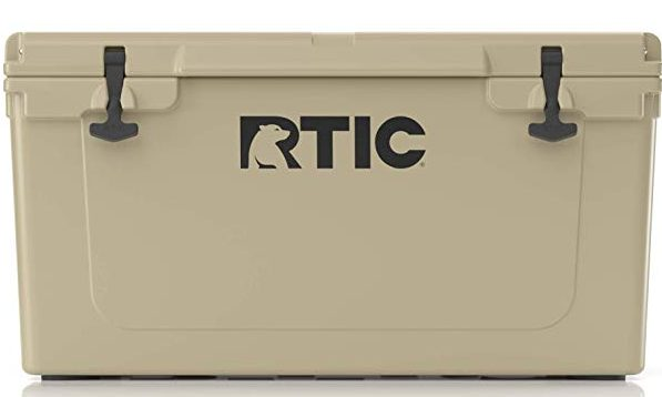 Tan RTIC 65 Qt Cooler
